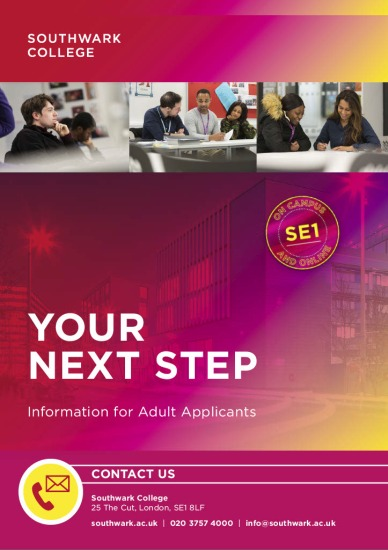 Southwark College Booklet Adults